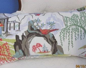 Robert Allen Neo Toile Lumbar  Pillow Cover