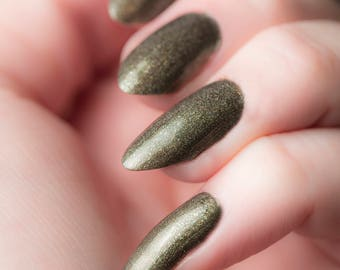 Pip-boy Nail Lacquer - Dark Holographic Green - Tips from the Wasteland - .45oz/13.2mL