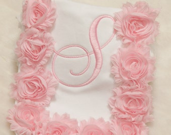Embroidered White Burp Cloth Baby Girl Personalized Burp Cloth