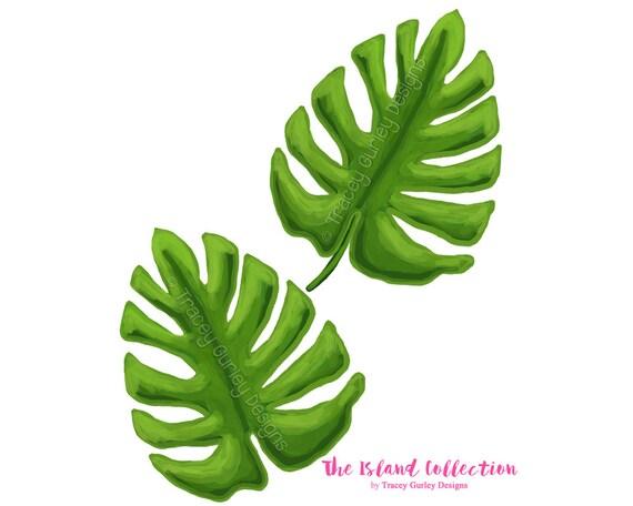 palm leaf art original art download tropical clip art rh etsy com palm leaf clip art black and white palm tree leaf clip art