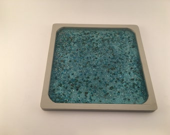 Turquoise Square Tray