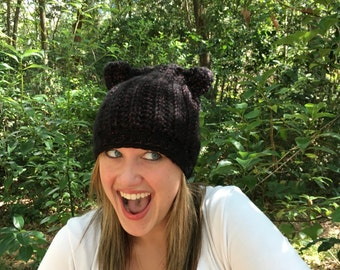 Black Cat Slouch Hat