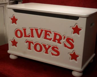 Personalized Toybox with 4 stars. Design 1