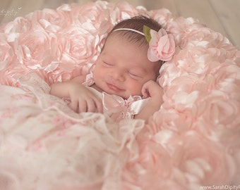 Delicaterose headband, choose your color, skinny elastic, newborn photoshoot or everyday, Lil Miss Sweet Pea