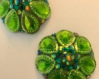 Newbie pasties, dark and light green