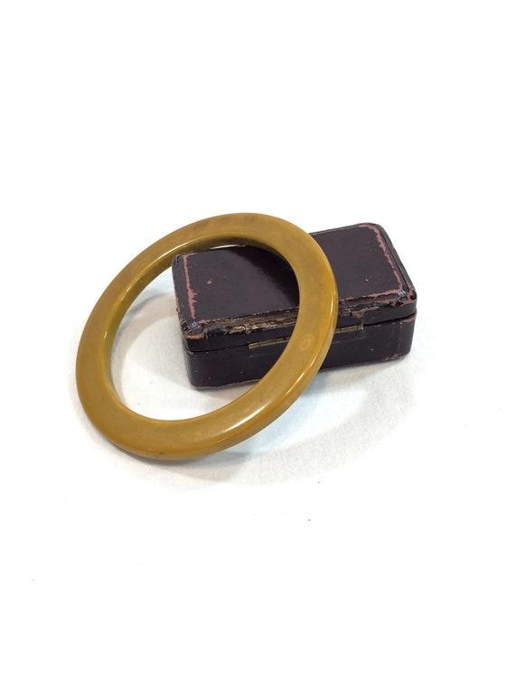 Thin Bakelite Bangle, Spacer Stacking Bracelet, Marbled Butterscotch Bakelite, 1940s Plastic Retro Vintage Jewelry