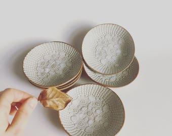 Ceramic Plates - Vintage Lace Jewellery Plates