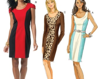 SLIMMING DRESS Sewing Pattern - Easy Knit Dresses 4 Sizes 5554