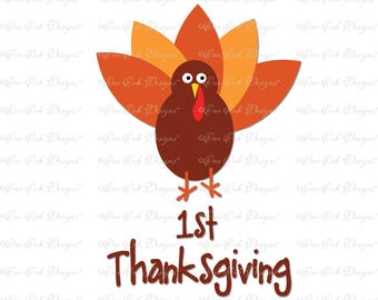 First Thanksgiving SVG File svg dxf png pdf jpg for Cameo, Cricut & other electronic cutters