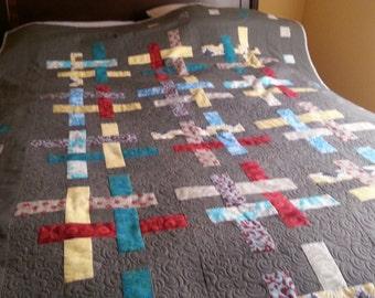 Modern criss cross quilt