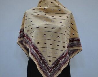 Vintage OLEG COSSINI hand rolled silk scarf.....