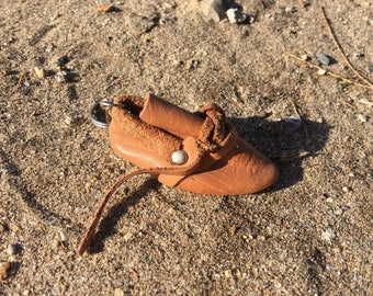 Leather Keychain, Leather Keyring, Leather Boots, Boots Keychain, Authentic Keychain, Gift Idea