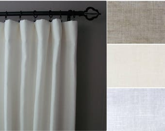 Blackout Linen Curtains: 100% Linen, Regular or Extra Wide