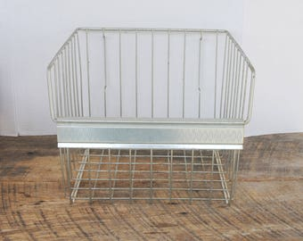Vintage Wire Freezer Storage Basket