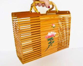 Bamboo bag handbag, bamboo bag, asian basket, natural bamboo basket craftsman, eco bamboo bag, bamboo sticks