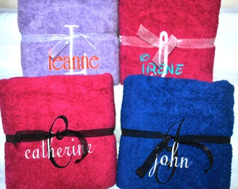 Monogrammed / Personalized Name Only Pool/Beach/Bath Towel