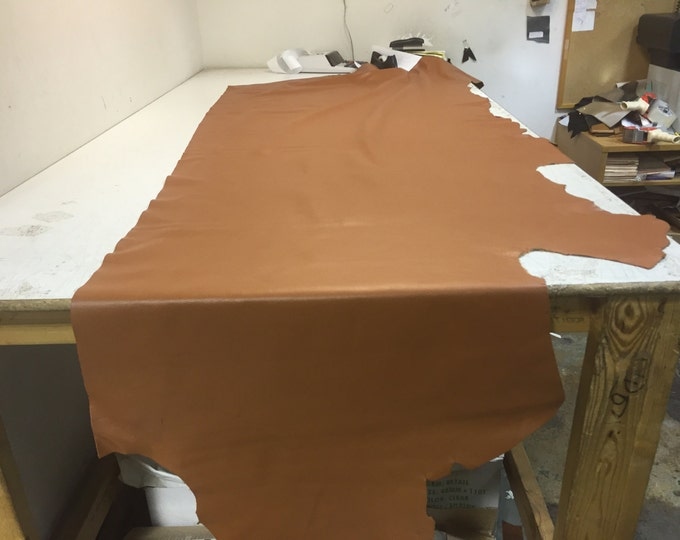 Cognac Cowhide: Natural Grain 3 oz Cowside Leather Perfect for Handbags, Shoes, Garments, and LEATHER CRAFTS