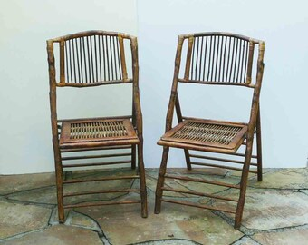 bamboo side chair etsy