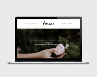 BOTANICA - Responsive Blogger Template - Brush Letter Title, Popular Posts Slider, Simple, Chic, Minimal, Sleek