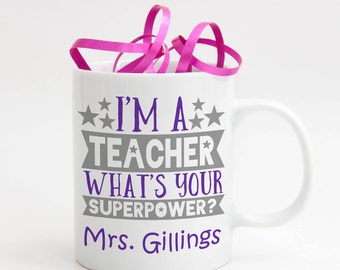 Personalised Teacher Cup, Teacher Mug, Teacher Gift, End of Year Gift