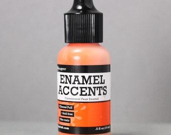 Orange Enamel, Ranger Enamel Accent, Faux Enamel, Non-Toxic, Jewelry Supplies, Jewelry Coloring, Metal Stamping, Stamping Supplies, Stamps