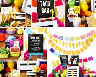 Mexican Fiesta Taco Bar Decorations | Tex Mex | Cinco de Mayo
