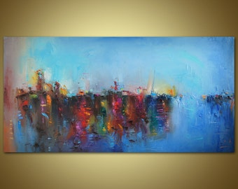 Large Abstract Painting, Contemporary Painting, Large Landscape Painting, Canvas Art, Original Abstract Painting, Abstract Painting Original