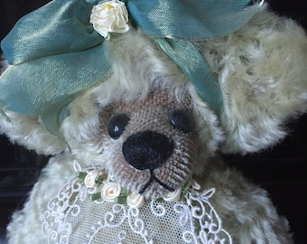 "Collector Bear ""Tasha"" by Sue Weiland ~ 14"" OOAK Mohair Artist Bear"