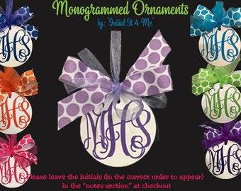 Monogram Christmas Ornament -Personalized Christmas Ornament- Teen Ornament- Kids Ornament- Stocking Stuffer