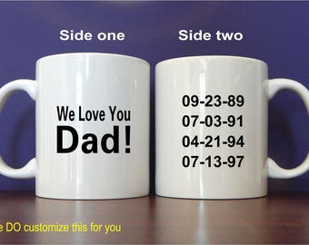 Fathers Day Mug Gift from Daughter - Father's Day Gift from Son - Kids - Birthday Gift for Dad, MDA024