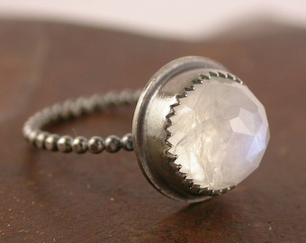 Moonstone and Sterling Silver Ring - Made to Order
