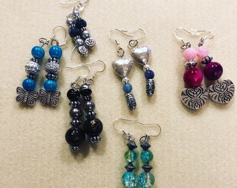 Beaded dangle earrings. They can be custom made by me. Beautiful quality and design.