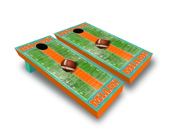 Chicago Miami Football Corn Hole Game