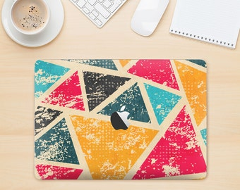 The Chipped Colorful Retro Triangles Skin Kit for the Apple MacBook Air - Pro or Pro with Retina Display (Choose Version)