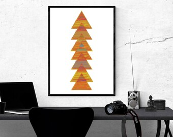Abstract Wall Art, Geometric Print, Colorful Wall Print, Digital Wall Art, Downloadable Wall Art, Colorful Home Art, Original Art