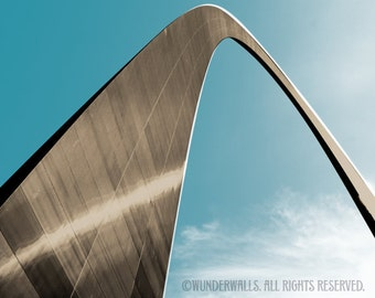 "Arch St. Louis Gateway Arch Sepia Copper Graphic Series Large 20"" x 16"" Canvas-Wrapped Frame: Arch Print Three"
