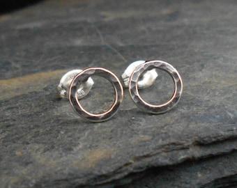 Circle earrings. Simple eternity earrings, sterling silver 0.925, handmade. Infinity circle. Circle of life earrings. Bridesmaid