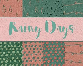 Rainy Days - Scrapbook papers