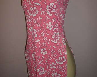 Swim Suit Cover Up, Beautiful Pink and White Flowers Floral Womens Size Small, Womens Clothing, Ladies Clothing