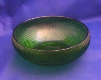 Vintage E.O Brody Co. Green Ribbed Planter Bowl, 1960s