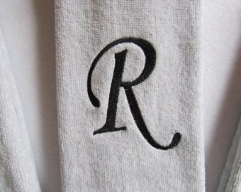 Personalized (Choose Towel Color and Thread Color) - Fingertip Velour Bathroom Towel 11x18 - JD Designs