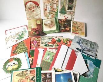 Huge Lot Christmas cards Vintage cards Holiday cards Scrapbooking