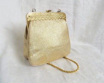 GOLD CLASP PURSE