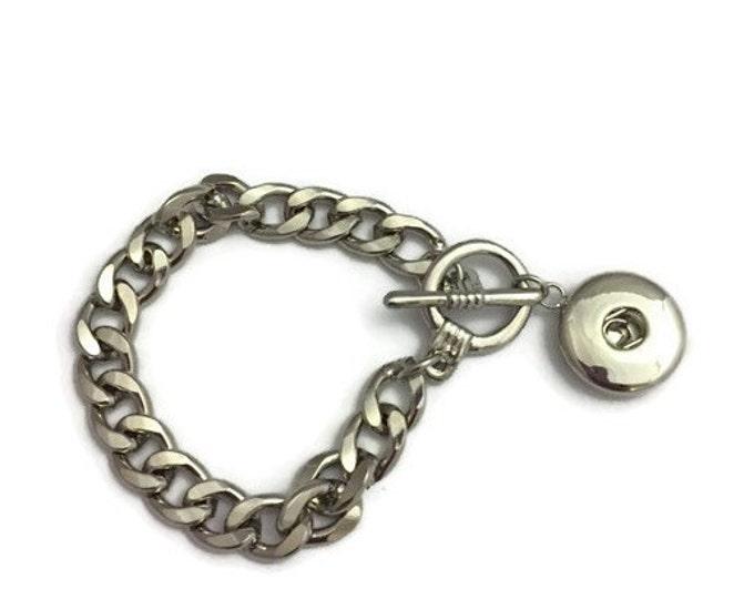 Snap Bracelet, Snap Jewelry,  Ginger Snap Bracelet, Link Snap Bracelet, Fits all Standard Snap Charms, Ginger Snap, Snap Button Jewelry
