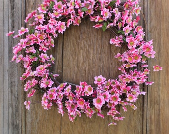 Cherry Blossom Wreath, Spring Wreath, Summer Wreath, Floral Wreath, Mother's Day Wreath, Pink Wreath, Front Door Wreath, Cherry Blossom
