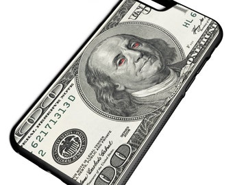 Ben Franklin Red Eyes 100 Dollar Bill iPhone Galaxy Note LG HTC Hybrid Rubber Protective Case