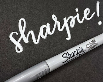 Sharpie METALLIC SILVER fine point marker   Sharpie permanent silver marker for art projects & crafting   opaque, quick dry, non-toxic