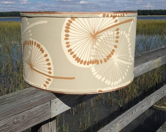 Drum Lamp Shade Lampshade Dandelion Sage Alexander Henry Fabric