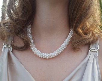 Freshwater Pearl Necklace, Multi-Strand - Free Shipping