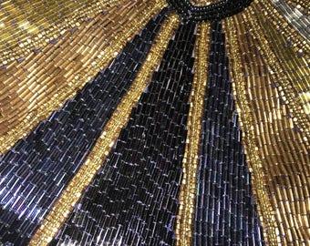 Vintage La Regale Beaded Evening Bag. Beaded Purse. Purse. Evening Gown Purse.